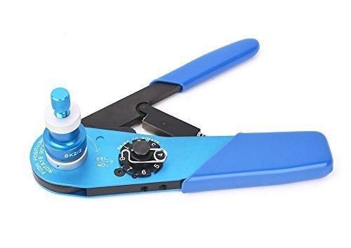 Precisetool YJQ-W1A Aircraft Cable Crimper Crimping Tools Terminal Crimper & SK2/2 Universal Positioner 20-32AWG