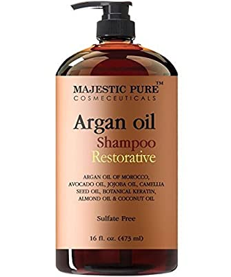 Majestic Pure Argan Oil Shampoo, Offers Vitamin Enriched Gentle Hair Restoration Formula for Daily Use, Sulfate Free, Moroccan Oil & Potent Natural Ingredients, for Men and Women
