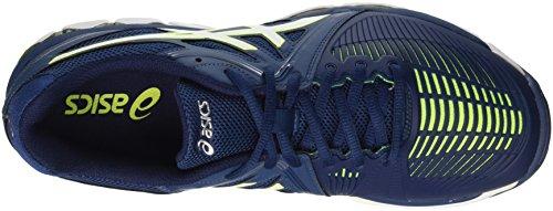 Asics Gel-Netburner Ballistic, Zapatillas de Gimnasia para Hombre Blu (Poseidon/White/Safety Yellow)