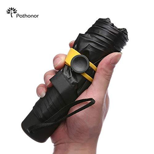 접이식산 Pathonor 미니산 수동 개폐산 발수 가공 오름 강도 글래스 화이버(fiber) 튼튼함 6개 뼈 UV컷 내강풍 청우 겸용 수납 케이스・산홀더・박스 부착