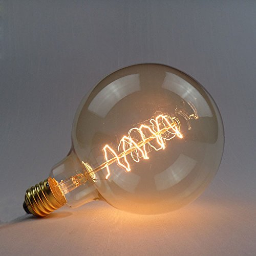 Led Light Bulbs - G125 E27 40w 220v Wrap Wire Incandescent Bulb Retro Edison Bulb - Incandescent Edison Bulb Bulbs 40 Watt 20 60 Light Vintage Filament Lamp Globe Decorative Spiral Anchor - 1PCs by Unknown