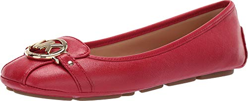 Michael Michael Kors Womens Fulton Moc Leather Square Toe, Bright Red, Size 8.0 ()