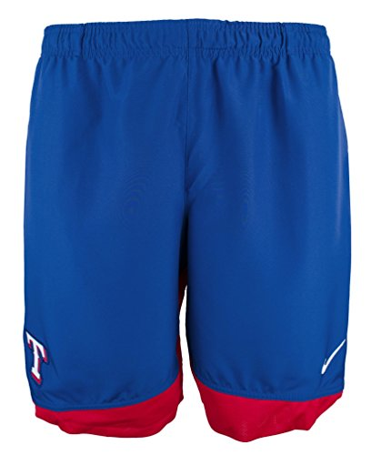 (Men's Texas Rangers Royal Authentic Collection Dry Woven Shorts-R-XL)