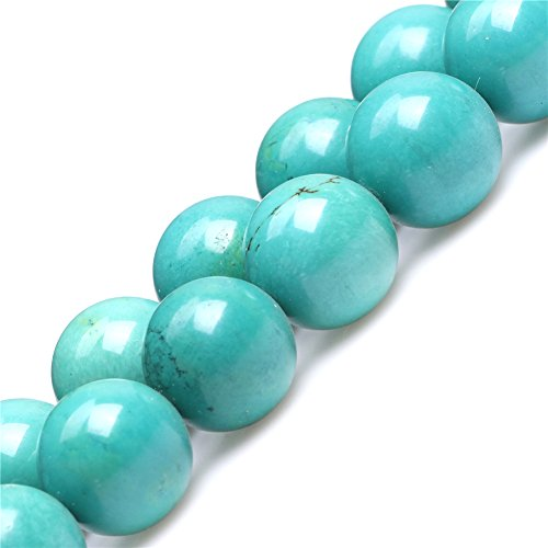 Old Turquoise Beads for Jewelry Making Gemstone Semi Precious 18mm Round Green 15