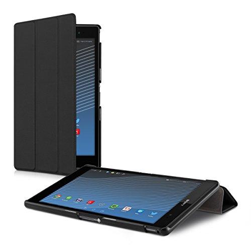 kwmobile Smart Cover Case für Sony Xperia Tablet Z3 Compact mit Ständer - Schmale Ultra Slim Hülle aus Kunstleder in Schwarz