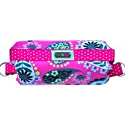 The Padalily Handle Cushion - Arm Cushion for Infant Car Seat (Pink Paisley)