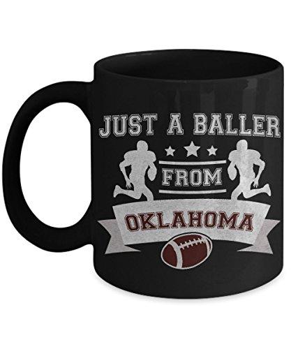 Oklahoma Mug - Just A Baller From Oklahoma Football Player - Ceramic Coffee Mug - Sports Memorabilia Gifts