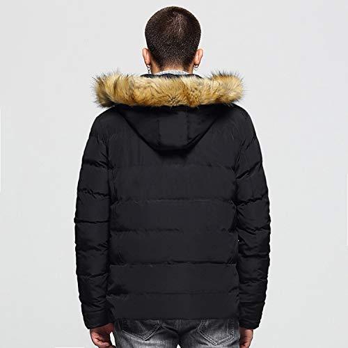 Black1 Cotone Invernale Poliestere Cappotto Con In Da Uomo E Cappuccio Cerniera Piumino Mookey Impermeabile Outdoor Caldo Giacca Bzwq0xaR