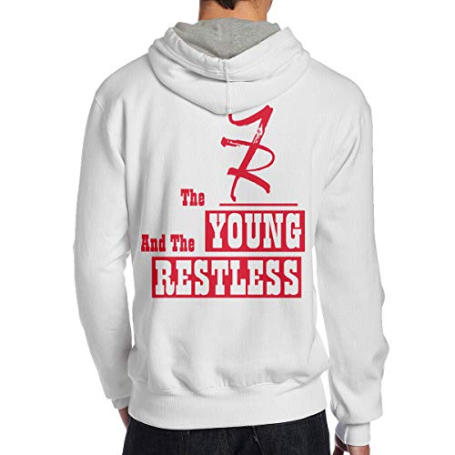 Hoodie Mens The Young and The Restless Casual Adult Pullover White Shirts XXL