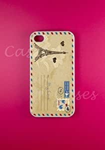 Iphone 4s Case Vintage Postcard Iphone 4 Cases, Best Retro Cool Hard Rubber C...