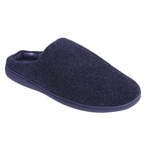 Zedzzz - Zapatillas de estar por casa Modelo Tony Estilo Mule hombre caballero Azul real