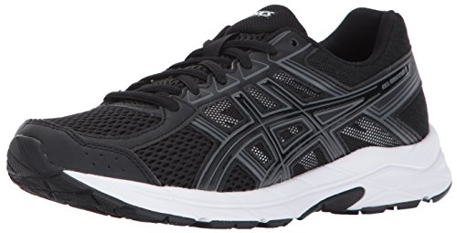 ASICS Womens Gel-Contend 4 Running Shoe, Black/Carbon, 7 Medium US