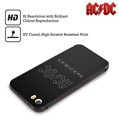 Officiel AC/DC ACDC En Arrière Dans Noir Couverture D'album Noir Étui Coque Aluminium Bumper Slider pour Apple iPhone 6 Plus / 6s Plus