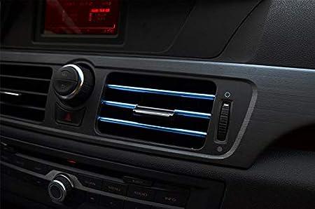 Blau 10 St/ück Auto L/üftungsschlitz Auslassleiste Auto Styling L/üftungsgitter Auslass Zierleiste Leiste Innenverkleidung Dekoration