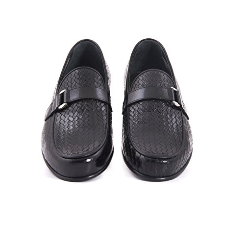 MOCASSINI Herren Mokassins Elegant Business Office Slipper Ledersohle, Hochwertig Schick feine Verarbeitung Echtleder Halbschuhe Lederschuhe