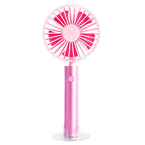 GOVOW-Tech Small Fans Electric for Women & Children Hand-held Removable Aluminum Tube Cooling Silence Portable Charging Small Fan ()