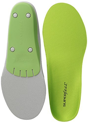 Superfeet Wide Fit Green Insoles - Legendary Support & Performance - F by Superfeet
