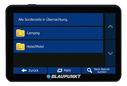 Blaupunkt TravelPilot 74 Camping EU LMU - Camping & Caravan Navigationssystem mit 17,5 cm (7 Zoll) Display, Bluetooth Freisprecheinrichtung, Kartenmaterial Europa, lebenslange Karten-Updates*, TMC Stauumfahrung, Fahrspurassistent