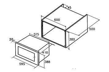 CATA Modelo Encastrable | MC 32 DC 32 litros | 5 Niveles de ...