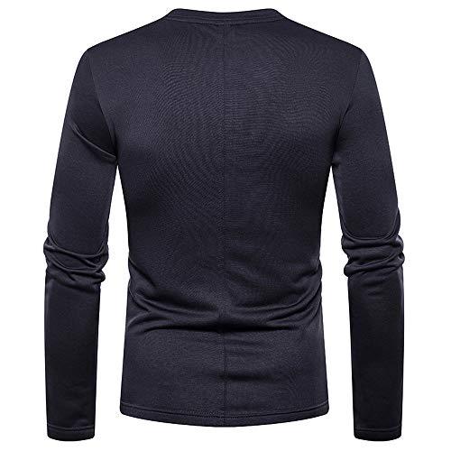 V Plus T Manadlian Chemise Hommes Longues À Col Homme En shirt Velours Gris Foncé Sweat Manches 8r7nx8Hq