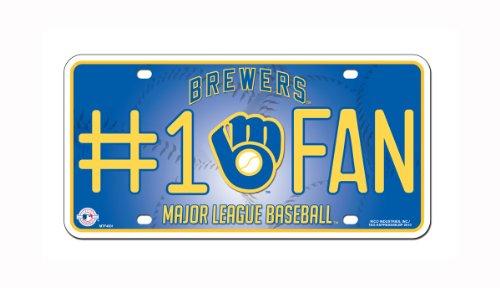 MLB Milwaukee Brewers #1 Fan Metal Tag (Mlb Milwaukee Brewers Car)
