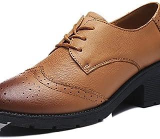 NJX/ Chaussures Femme - Extérieure / Décontracté / Sport - Noir / Bleu - Talon Bas - Confort - Talons - Cuir blue-us5.5 / eu36 / uk3.5 / cn35 MKJMK