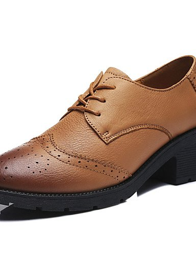 ZQ Zapatos de Casual 5 us6 5 us8 blue 5 eu39 cn40 Tacón Cuero Tacones 5 Exterior mujer us8 uk6 Bajo Azul Comfort uk4 brown eu39 Negro uk6 eu36 brown cn40 cn36 Deporte rrd54q8w