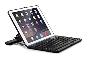 SHARKK Folio Bluetooth Keyboard Case with 360 Degree Rotating Feature and Sleep/Wake Function for iPad Air 2 - Black (KC-SH561A-BLK)
