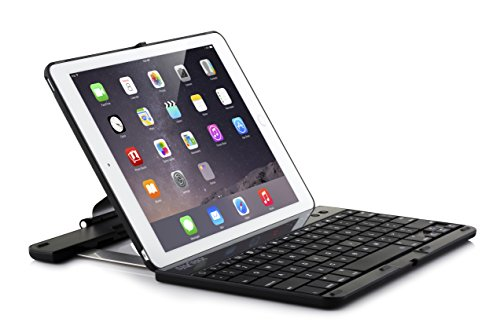 SHARKK Folio Bluetooth Keyboard Case with 360 Degree Rotating Feature and Sleep/Wake Function for iPad Air 2 - Black (KC-SH561A-BLK) (Shark 2 Keyboard Air Ipad)