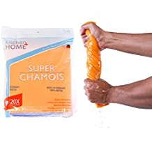 Super Chamois - Super Absorbent Shammy Cleaning Cloth Value 6 Pack - Holds 20x It's Weight In Liquid