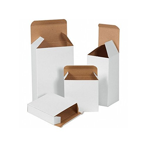 Box Packaging Reverse Tuck Folding Carton, White, 3'' x 2'' x 3'' - Case of 500 by Box Packaging