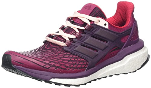 adidas Energy Boost W, Chaussures de Running Femme Multicolore (Mystery Ruby F17/red Night F17/icey Pink F17)
