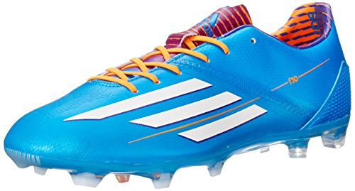 adidas Performance Men's F30 TRX Firm-Ground Soccer Cleat, Solar Blue Running White/Solar Zest, 7.5 M US