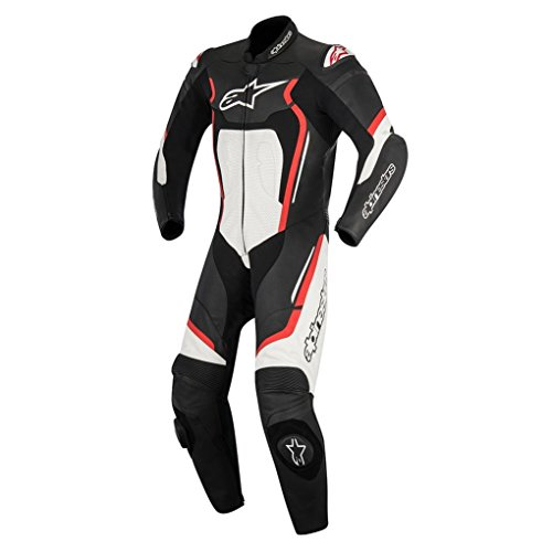 Alpinestars Racing Motegi v2 Leather Motorcycle Suits - Black/Red/White - 52