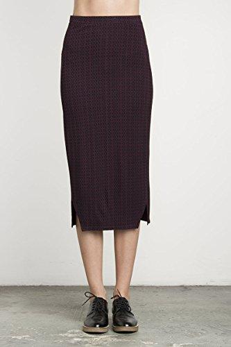 RVCA Women's Domestic Midi Skirt, Wine, Small 41Bb56UdFKL