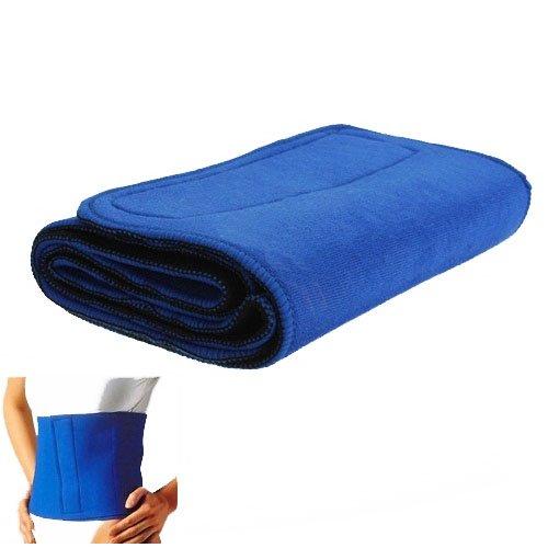 Waist Trimmer Exercise Belt Slimming Burn Fat Sauna Sweat Weight Loss Wide Blue
