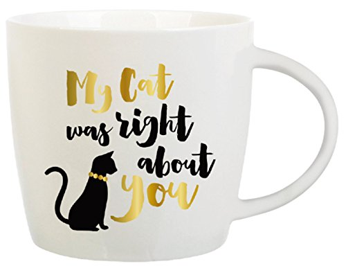 Cat Lover Coffee Mug Gift - Message Reads:
