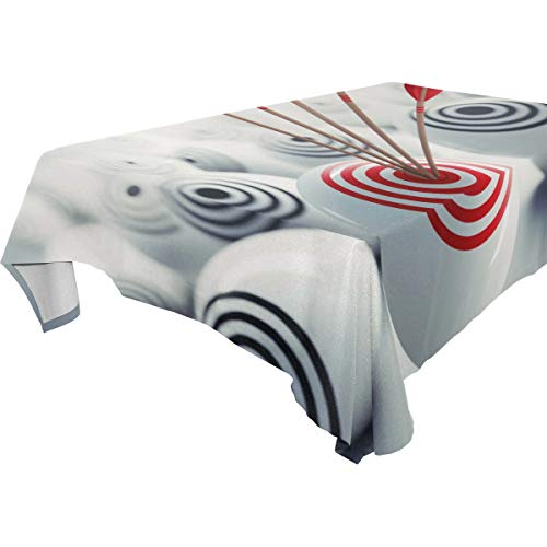 Nanmma Target Business Print Table Covers Tablecloth in Washable Polyester - Great for Catering Events, Dinner Parties, Special Occasions,Seasonal Décor, Wedding & More 60