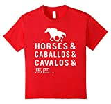 Say Horses in Many Languages T-Shirt 12 Red