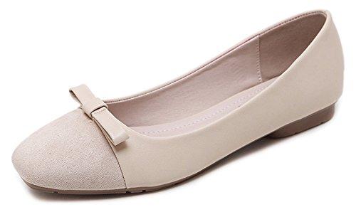 Confort Enceinte Abricot Aisun Ballerines Femme Chaussures Plates vTxZw