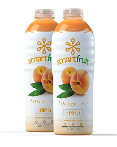 Smartfruit Perfect Peach, 100% Real Fruit Smoothie Mix, No Added Sugar, Non-GMO, No Additives, Vegan, Family Pack 48 Fl. Oz (Pack of 2)