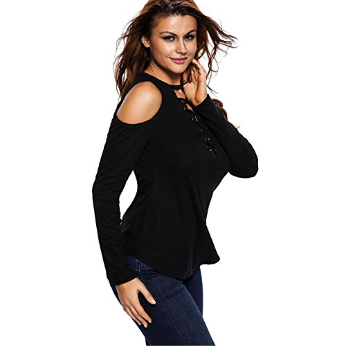 8bf3dcf15088 well-wreapped Famulei Women s Bodycon Long Sleeve Bandage Cold Off Shoulder  Tops Blouse Shirt