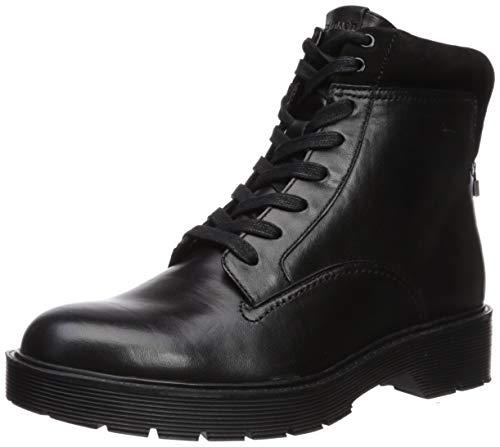 Black Nappa Suede Footwear - Calvin Klein Women's Talia Ankle Boot, Black Nappa/Suede, 9 M US