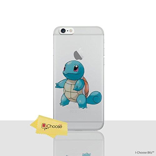 iPhone 6/6s Pokemon Caja de Silicona / Squirtle Cubierta de Gel para Apple iPhone 6S 6 / Protector de Pantalla y Paño / iCHOOSE Squirtle