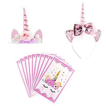Ella Celebration Unicorn Birthday Party Decoration Kit Favor Supplies For Girls With Themed Pink