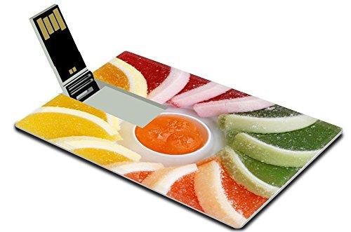 Luxlady 32GB USB Flash Drive 2.0 Memory Stick Credit Card Size Jelly Sweets IMAGE - Citrus Sticks Treat