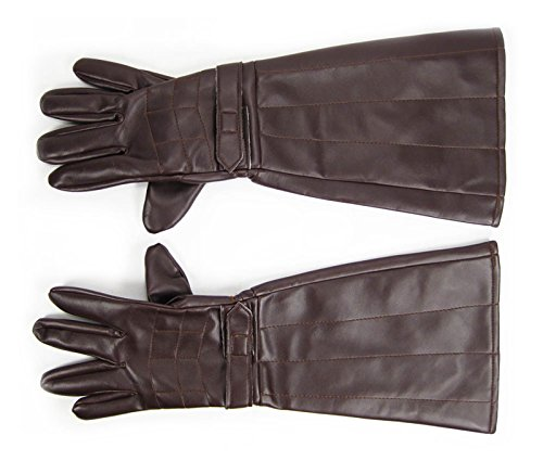Costume Gloves Brown (Brown) (Ideas For Heroes And Villains Fancy Dress)
