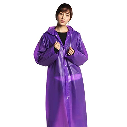 Chic Avec Serrage Transparent Mode Raincoat 3 Jacket Fashion Eva Hooded Color Plain Rain De Light Cordon qgYCz