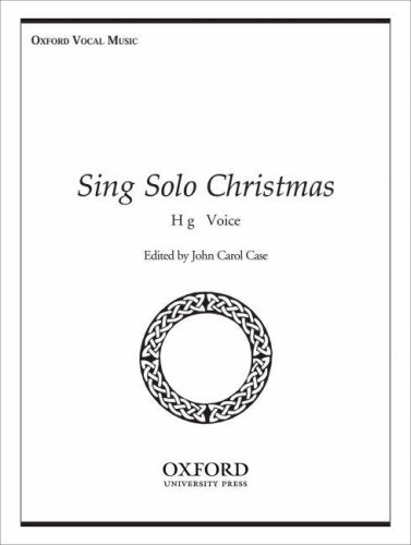 Sheet Christmas Bach Music (Sing Solo Christmas: High voice)