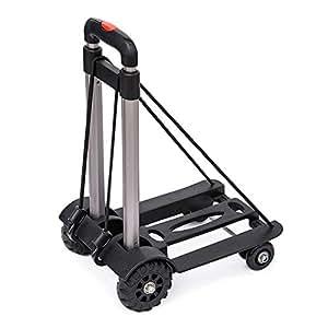 Amazon.com: Carro de equipaje de 4 ruedas, ligero, plegable ...